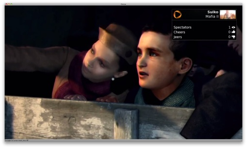 Onlive sceen in spectator mode view gamer playing Mafia II