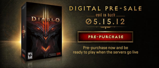 Diablo 3 launches May 15, 2012.